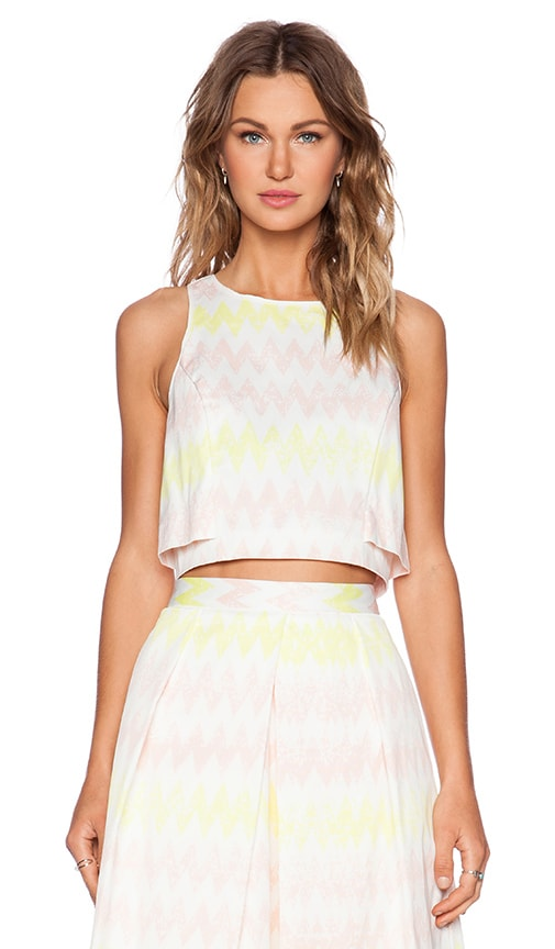 1. STATE Chevron Crop Top in Cameo Pink