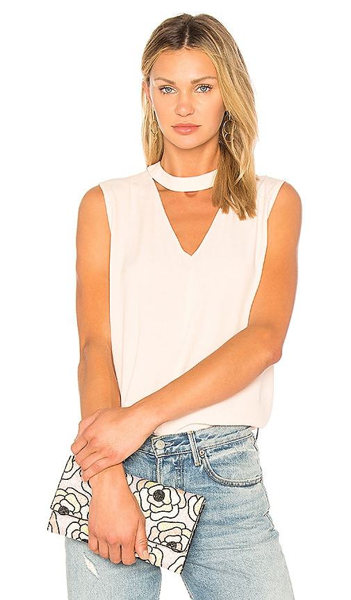1. STATE Bar Neck Blouse in Blush