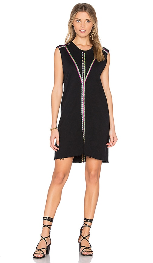 27 miles malibu Leora Embroidered Dress in Black