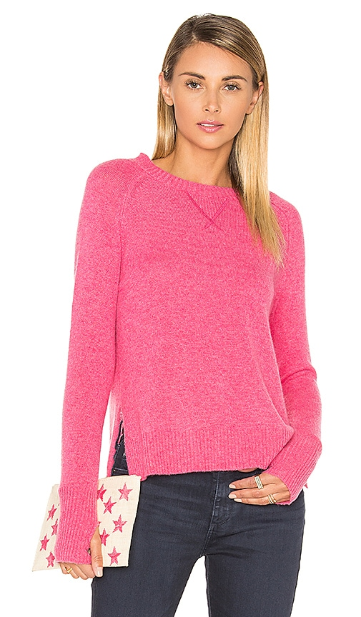27 miles malibu Nora High Low Side Slit Sweater in Pink