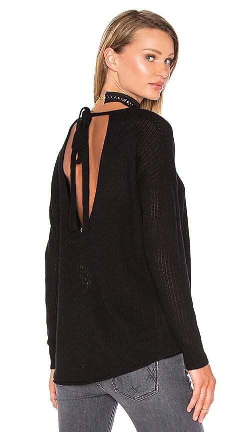 27 miles malibu Odessa Tie Back Sweater in Black