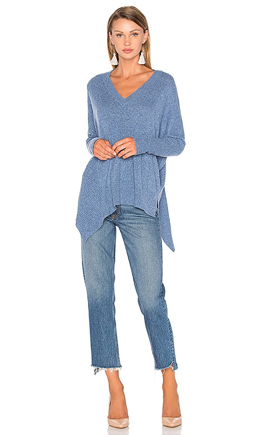 27 miles malibu Warley High Low Sweater in Blue