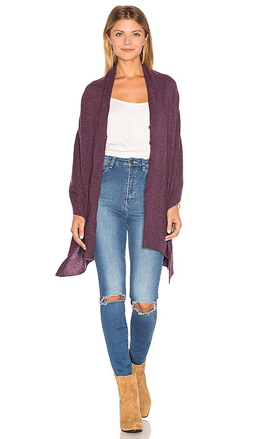 27 miles malibu Chumash Crop Poncho in Purple