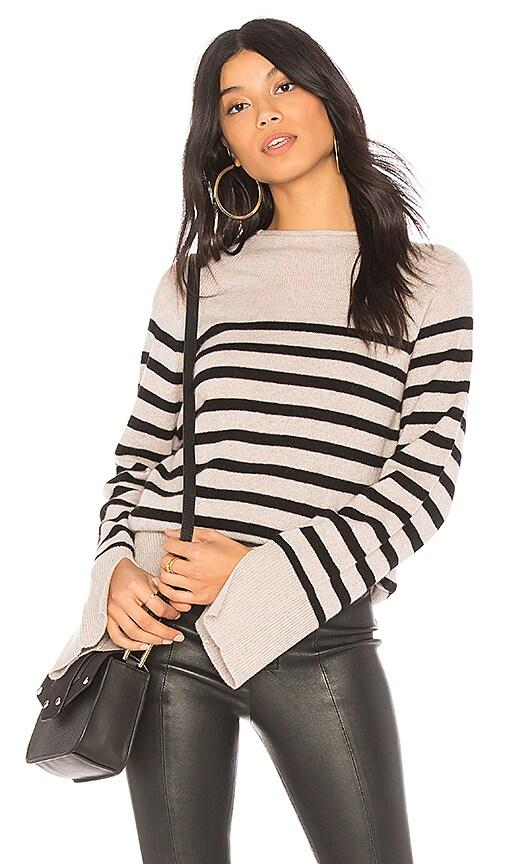 27 miles malibu Nettie Striped Sweater in Black