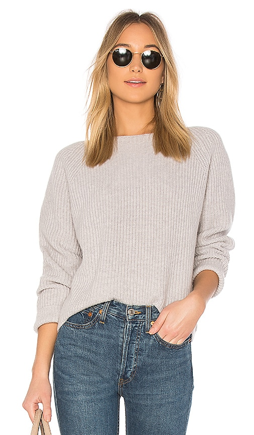 27 miles malibu Hart Sweater in Light Gray