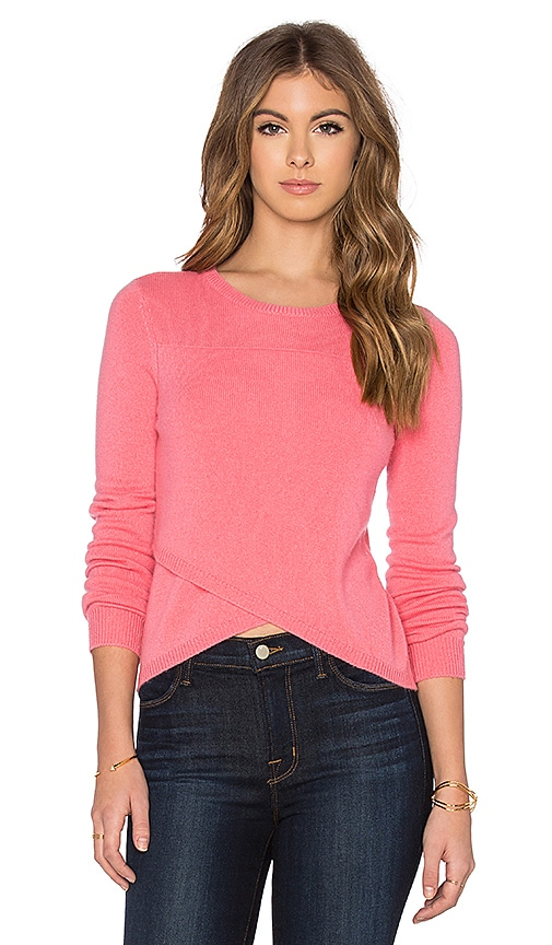 Twiggy Cross Front Crop Sweater