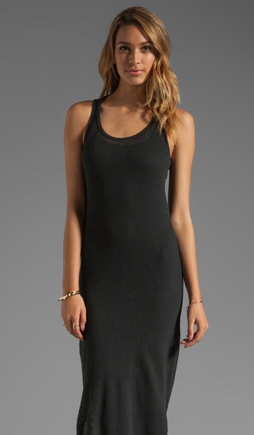 Circle Mesh Racerback Maxi Dress