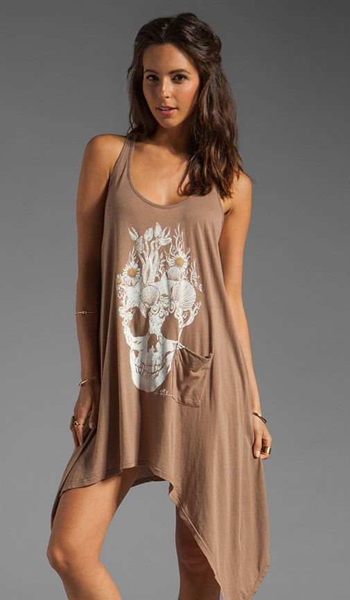 Sea Skull Curved Hem Dress