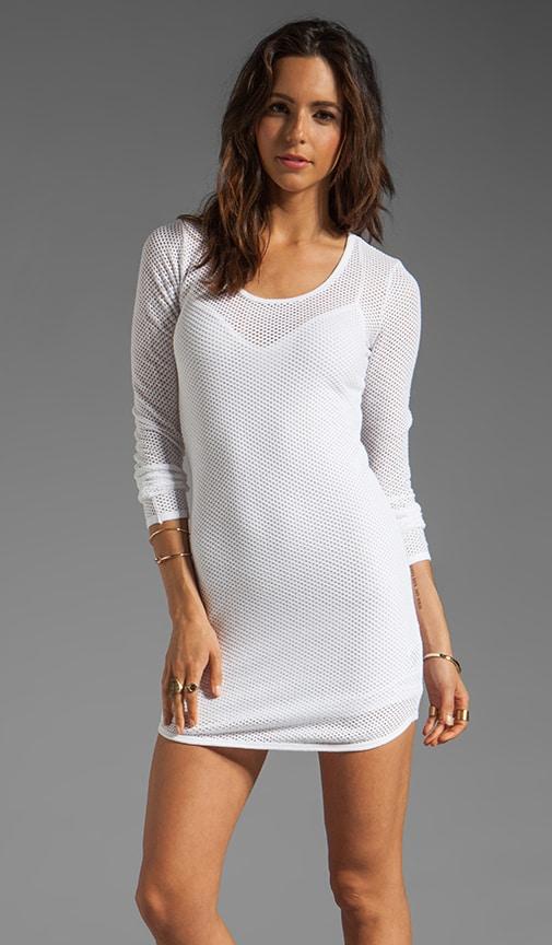 Circle Mesh Shaped Hem Mini Dress