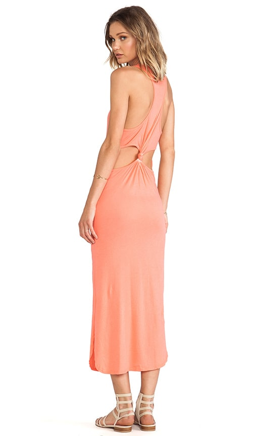 Cut-Out Back Knot Maxi Dress