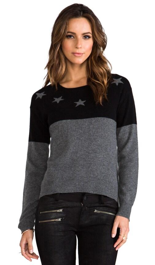 Cashmere Neck Star Uneven Hem Sweater