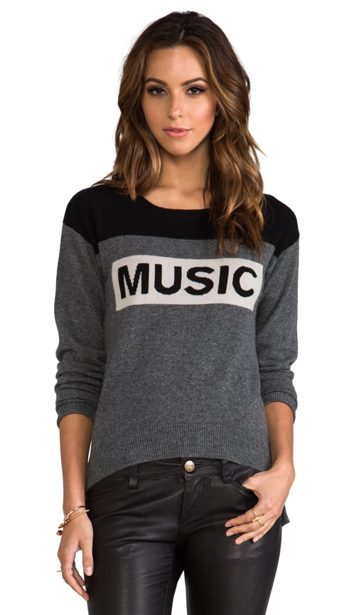 Cashmere Music Uneven Hem Sweater