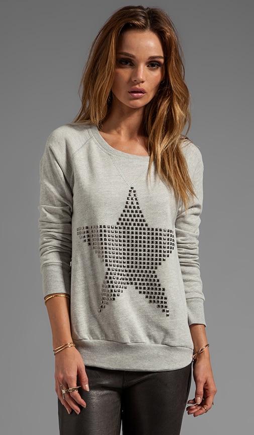 Stud Star Pullover Sweatshirt