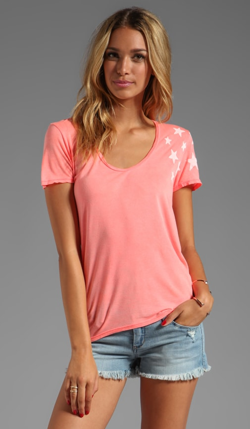Dance the Night Short Sleeve Uneven Hem Tee