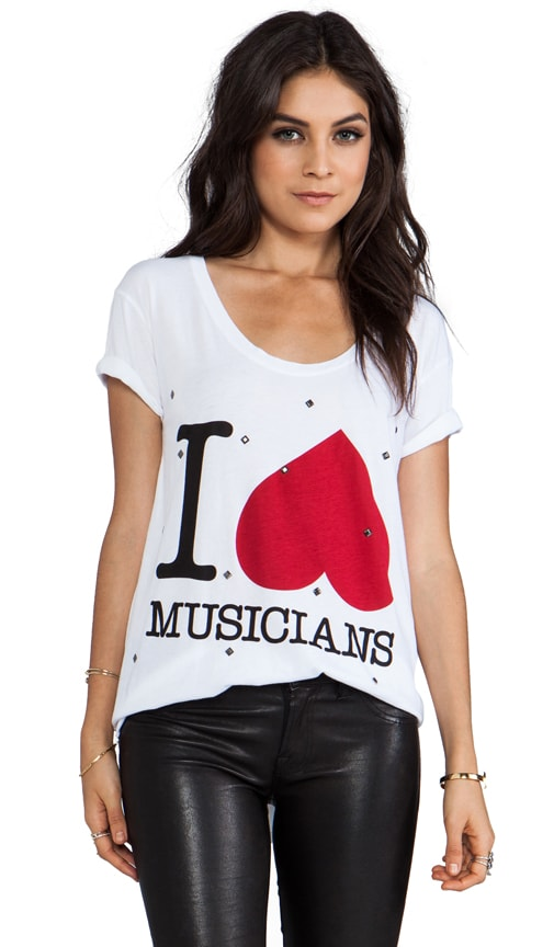 I Heart Musicians Relaxed Tee
