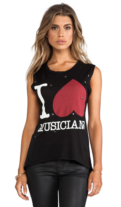 I Heart Musicians Muscle Tee