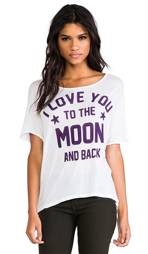 To The Moon Oversized Hi Low Tee