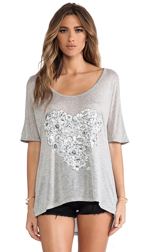 Flower Heart Oversized Tunic