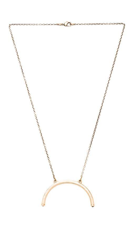 Half Turn Pendant Necklace