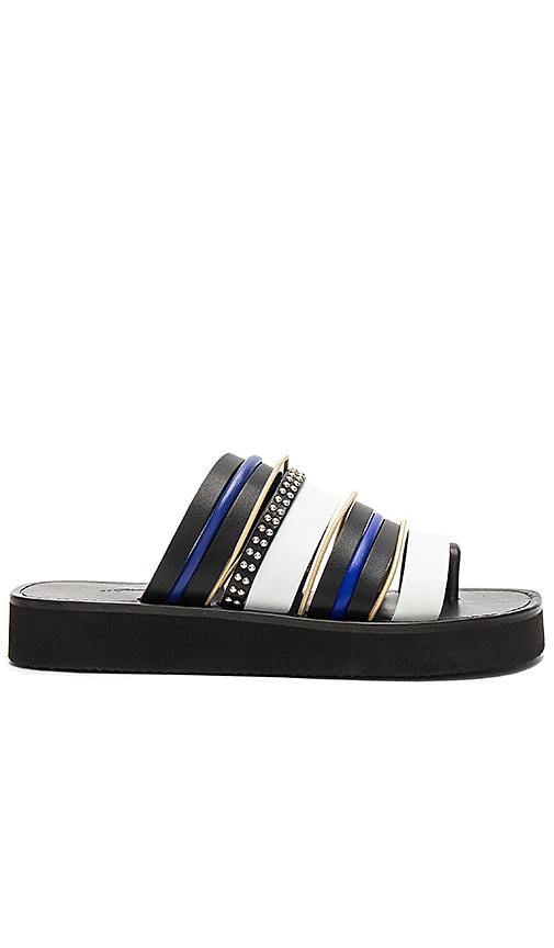 3.1 phillip lim Eva Multi Stripe Sandal in Black