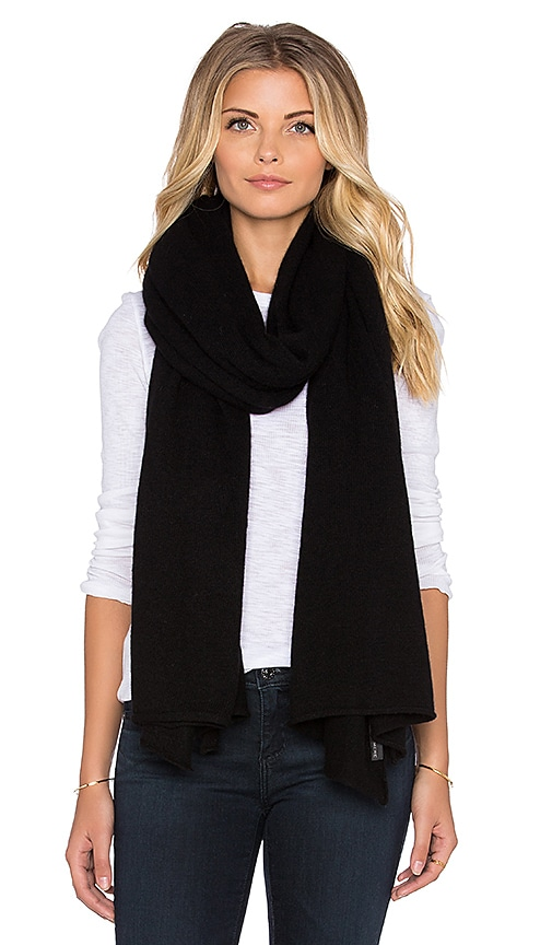 360 Sweater Linus Flared Travel Scarf in Black