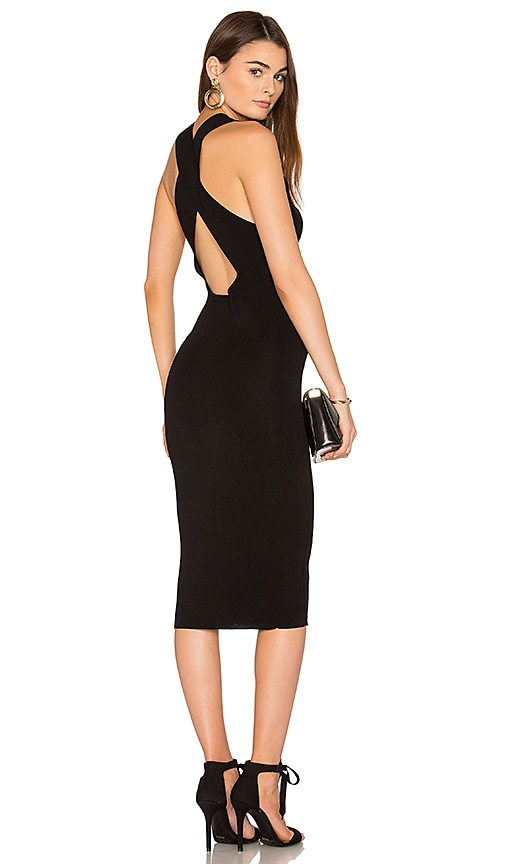 360 Sweater Christi Bodycon Dress in Black