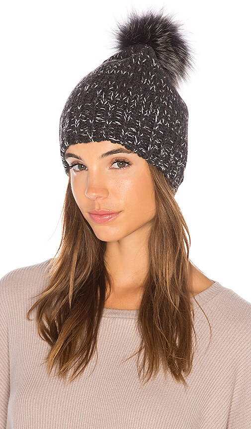 02e2ace4068072 360CASHMERE Ciara Beanie in Charcoal | REVOLVE
