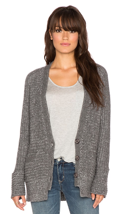 360 Sweater Janne Cardigan in Dark Gray