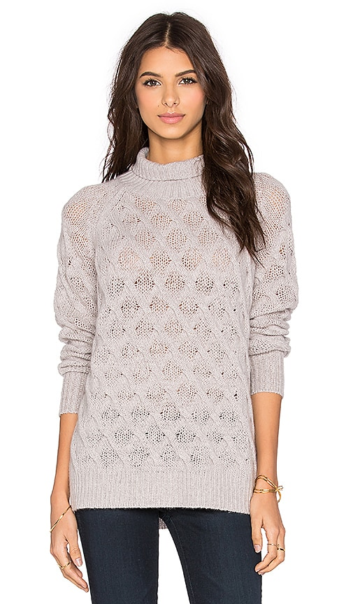 360 Sweater Beverly Turtleneck Sweater in Marble