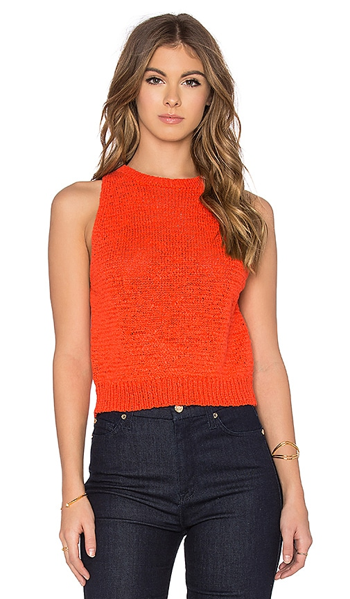 360 Sweater Isla Sleeveless Sweater in Orange
