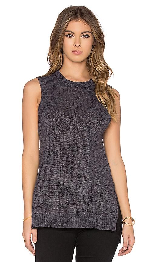 360 Sweater Ilona Sleeveless Sweater in Charcoal