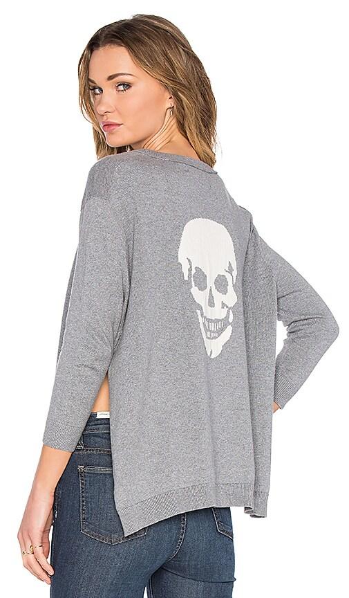 360 Sweater Attis Skull Sweater in Thunder & Chalk Skull