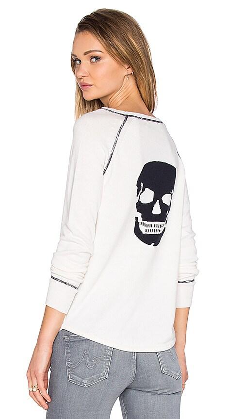 360 Sweater Eurus Skull Sweater in Chalk & Navy