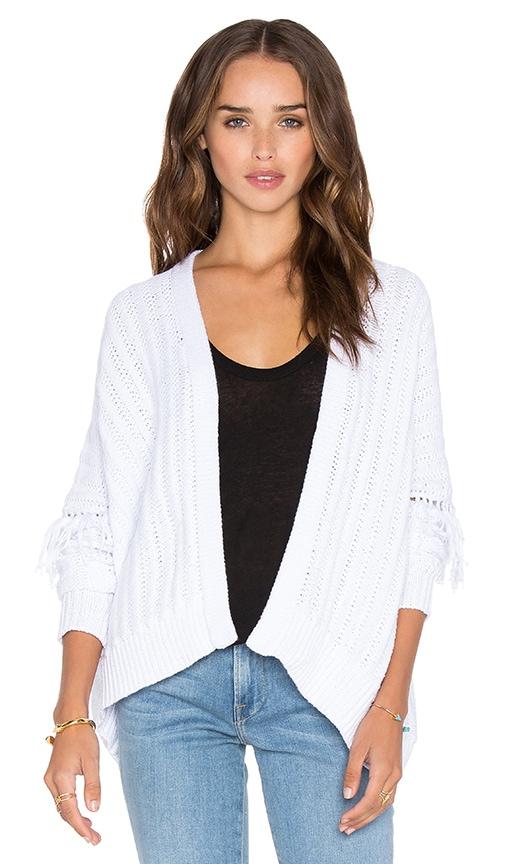 360 Sweater Brett Cardigan in White