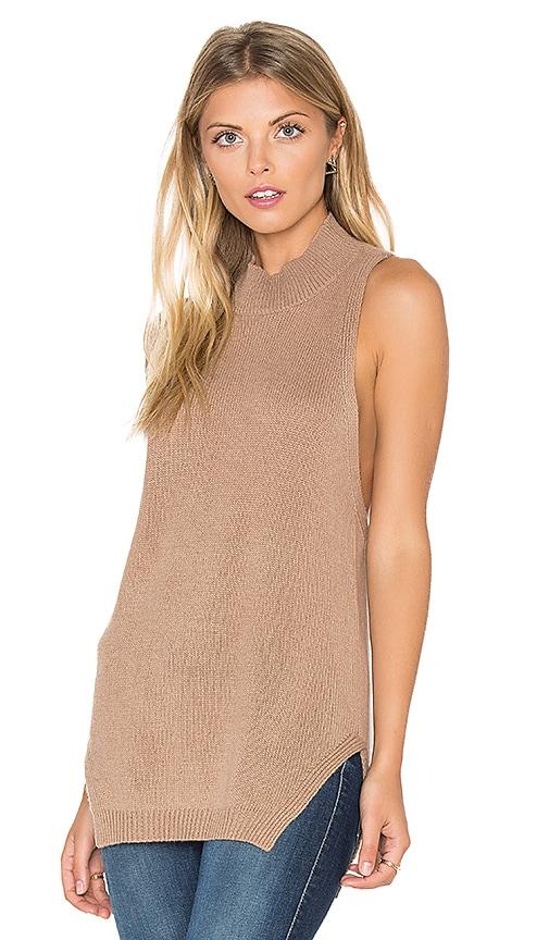 360 Sweater Logan Sleeveless Sweater in Brown