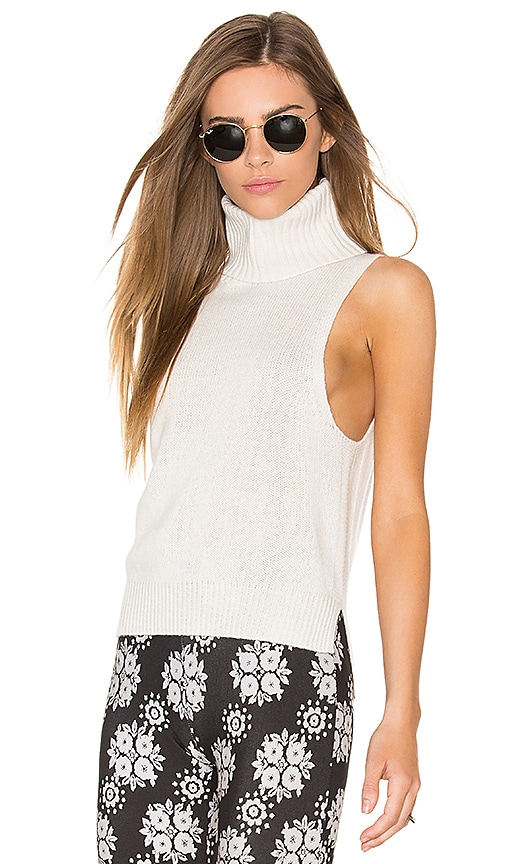 360 Sweater x Rocky Barnes Cambry Sleeveless Sweater in Cream