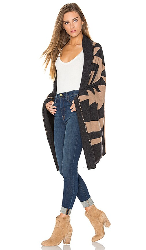 360 Sweater x Rocky Barnes India Poncho in Brown