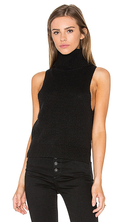 360 Sweater x Rocky Barnes Cambry Sleeveless Sweater in Black