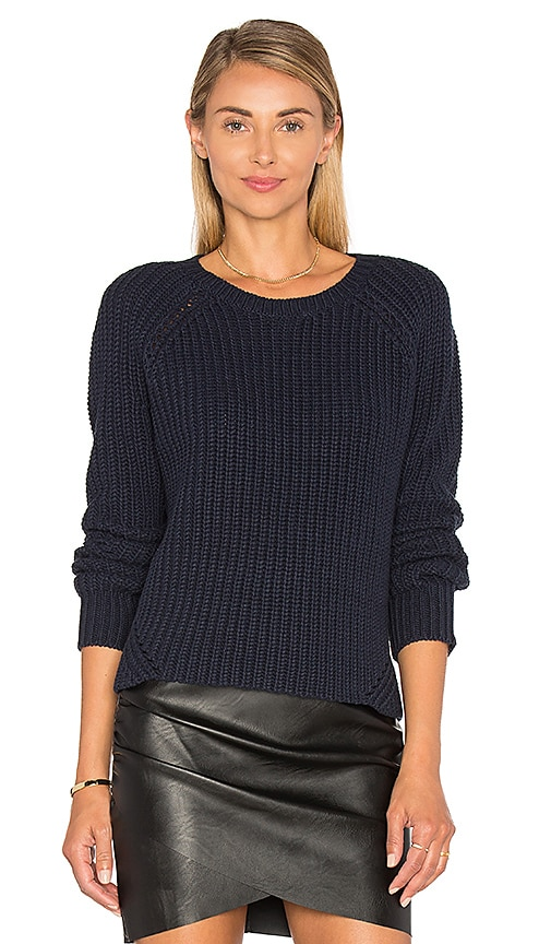 360 Sweater Shelton Cashmere Crew Neck Sweater in Blue