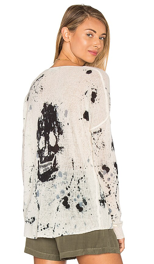 Spark Cashmere Skull Sweater