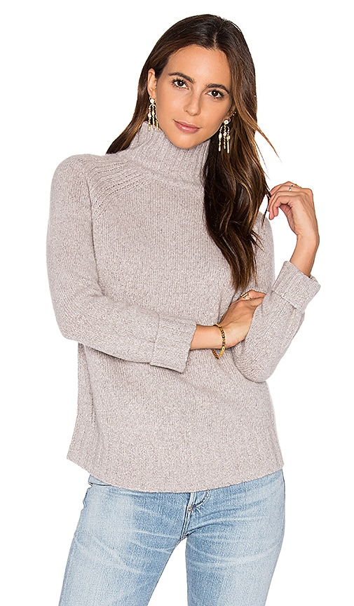 360 Sweater Europa Cashmere Turtleneck Sweater in Grey
