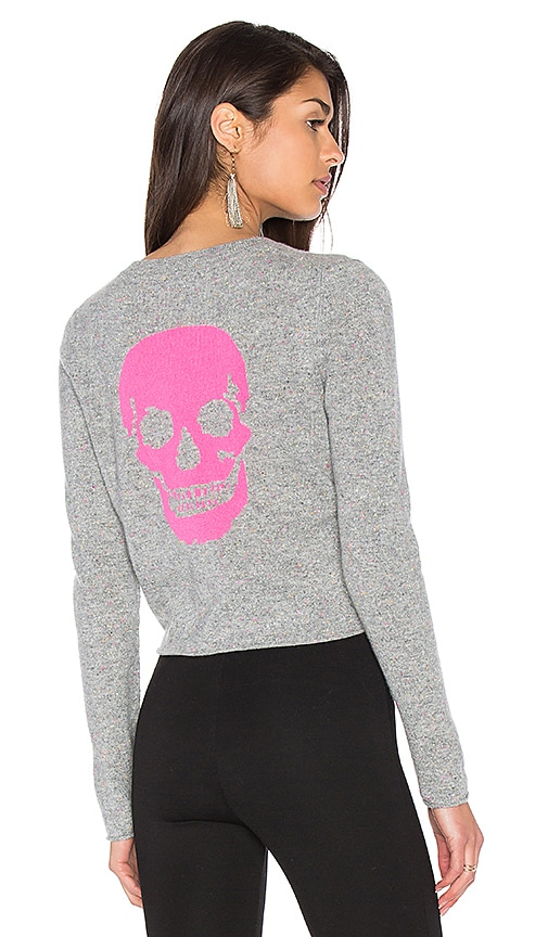 360 Sweater Trova Cashmere Skull Sweater in Gray