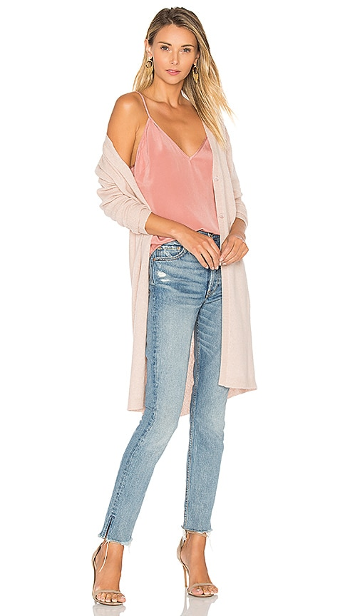 360 Sweater Aria Cardigan in Blush