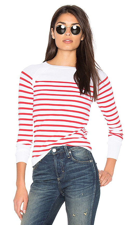 360 Sweater Mayan Stripe Sweater in Red