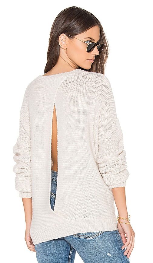 360 Sweater Greer Open Back Sweater in Beige