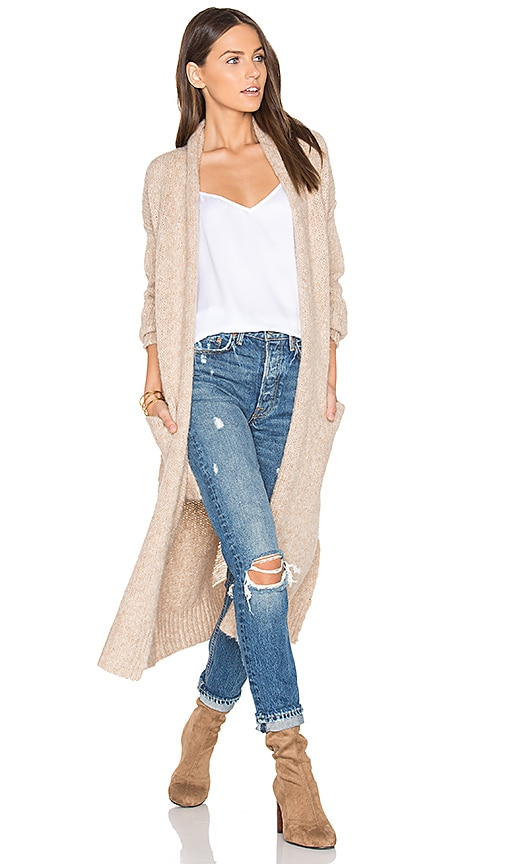 360 Sweater Margaux Cardigan in Tan
