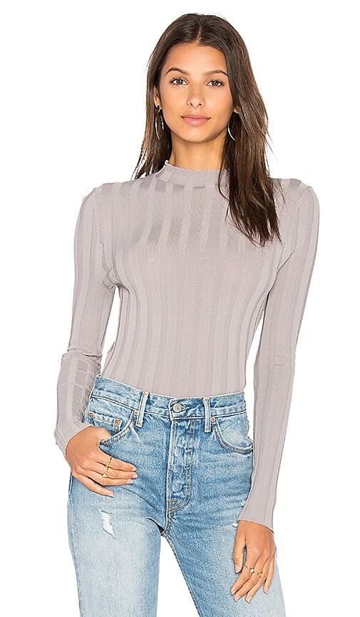 360 Sweater Amalie Mock Neck Sweater in Gray