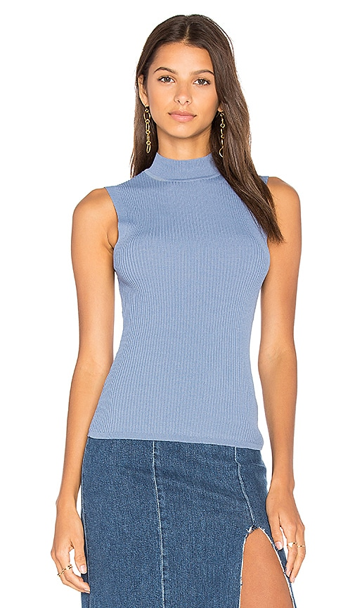 360CASHMERE Georgia Sleeveless Sweater in Blue