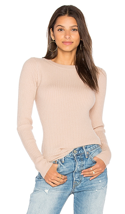 360CASHMERE Kelsey Ribbed Sweater in Beige