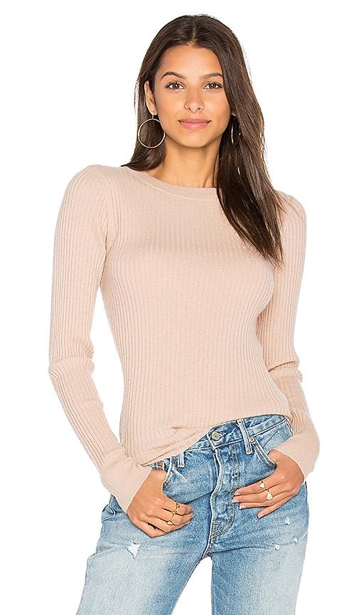 360 Sweater Kelsey Ribbed Sweater in Beige